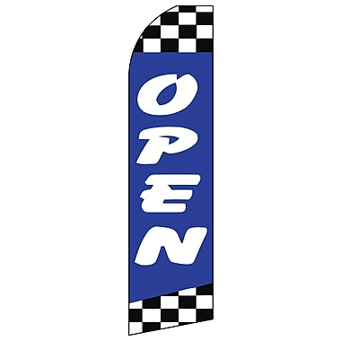 Swooper Banner Kit With Pole & Ground Spike, Open, Blue