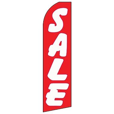 Trousse pour banderole à message avec perche et piquet, « Sale », rouge et blanc