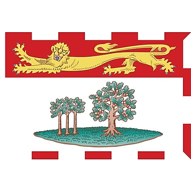 Drapeaux provinciaux - Île-du-Prince-Édouard, 4 x 6 po, 12/paquet