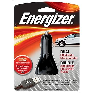 Energizer® 7.5 W Dual USB Universal Car Charger, Black