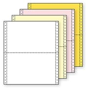 """Printworks® Professional 4 Part Computer Paper, 9 1/2"""" x 5 1/2"""", White/Canary/Pink/Gold, 1600 Sheets"""