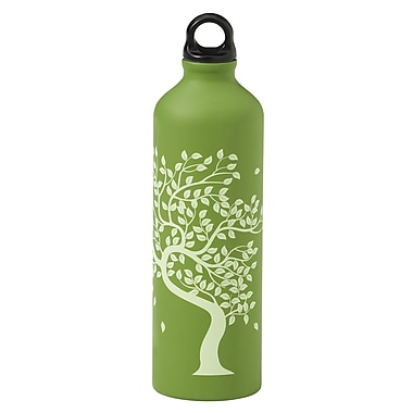 Gaiam® Aluminum Water Bottle with Cap Style 1, 750mL, Tree of Life