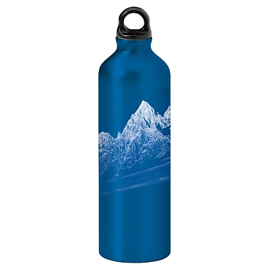 Gaiam® Aluminum Water Bottle with Cap Style 1, 750mL, Rocky Mountains