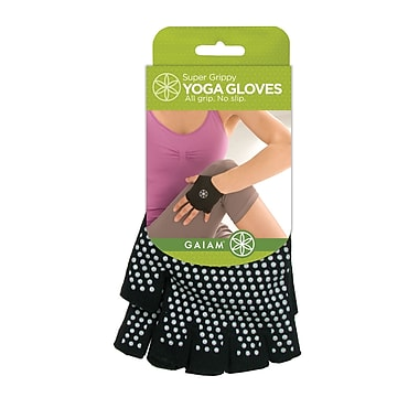 Gaiam® Super Grippy Yoga Gloves, Grey Grippers