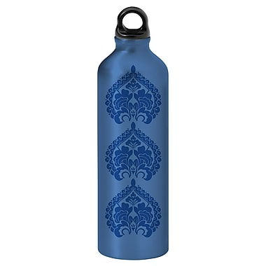Gaiam® Aluminum Water Bottle with Cap Style 1, 750mL, Tres Medallions