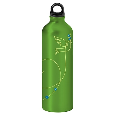 Gaiam® Aluminum Water Bottle with Cap Style 1, 750mL, Love Bird 1