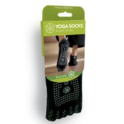 Gaiam® No Slip Yoga Socks, Small/Medium, Grey Grippers