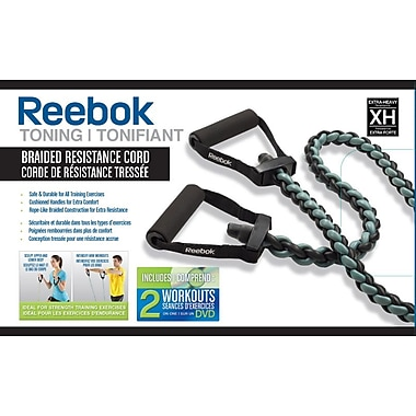 Reebok Braided Resistance Cord Kit with DVD, Heavy 1