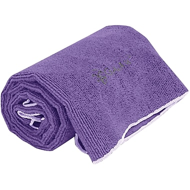 Gaiam® – Serviette à mains Thirsty Yoga, violet foncé