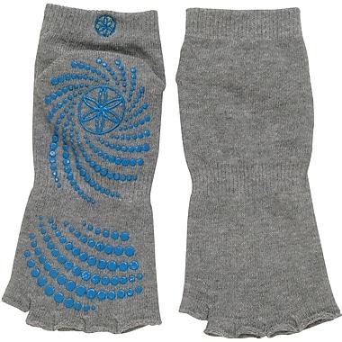 Gaiam® – Bas de yoga Grippy sans orteils, petit/moyen, picots antidérapants bleu sarcelle