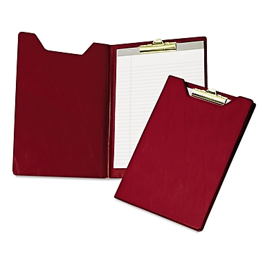 Samsill® Pad Holder With Brass Clip, Burgundy