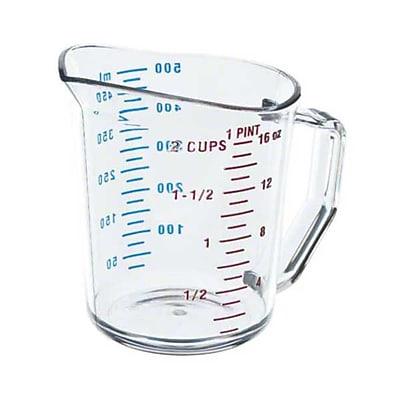 Cambro 50MCCW Polycarbonate Measuring Cup, Clear 417067