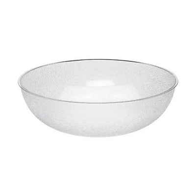 Cambro PSB18-176 Camwear 20.2 qt. Polycarbonate Pebbled Bowl, Clear