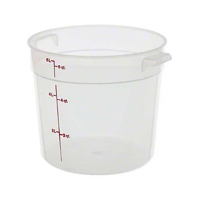 Cambro RFS6PP190, 6 qt Polypropylene Round Food Storage Container