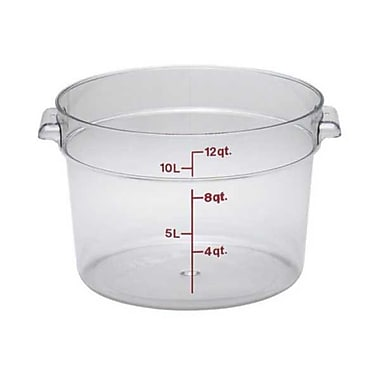 Cambro RFSCW12, 12 qt Polycarbonate Food Storage Container - Camwear Round