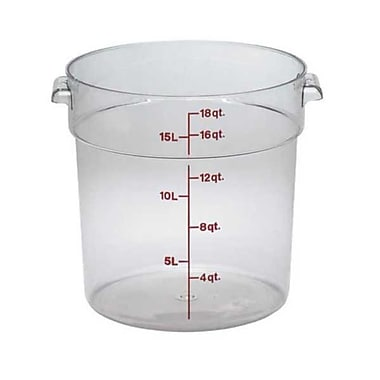 Cambro RFSCW18, 18 qt Polycarbonate Food Storage Container - Camwear Round