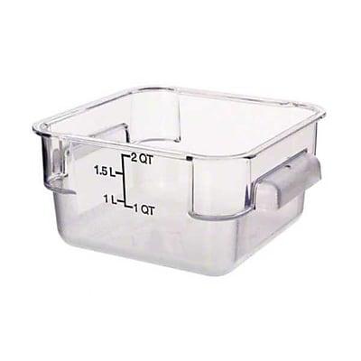 Carlisle 10720-07, 2 qt StorPlus™ Square Food Container