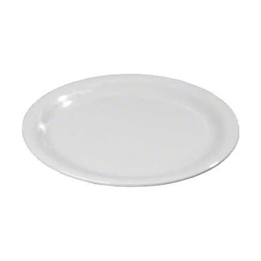 Carlisle 11'' Wide Rim Dinner Plates - Durus Collection, White