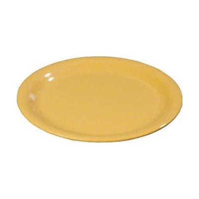 Carlisle 11'' Wide Rim Dinner Plates - Durus Collection, Honey Yellow