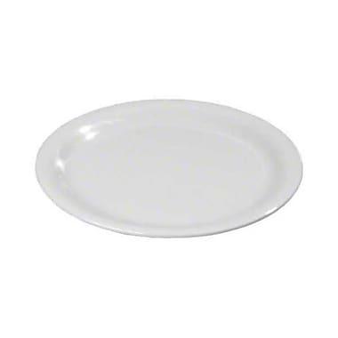 Carlisle 9'' Wide Rim Dinner Plates - Durus Collection, White