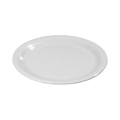 Carlisle 9'' Wide Rim Dinner Plates - Durus Collection, White