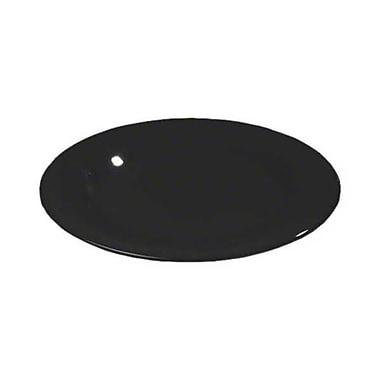 Carlisle 9'' Wide Rim Dinner Plates - Durus Collection, Black
