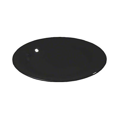 Carlisle 9'' Wide Rim Dinner Plates - Durus Collection, Black