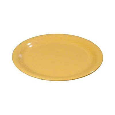 Carlisle 9'' Wide Rim Dinner Plates - Durus Collection, Honey Yellow