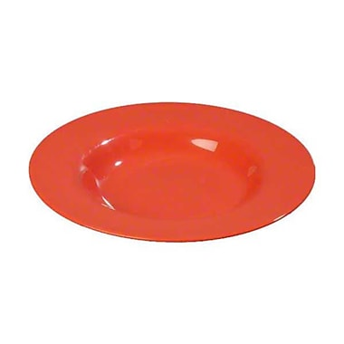 Carlisle 20 oz Chef Salad/Pasta Bowls - Durus Collection, Sunset Orange