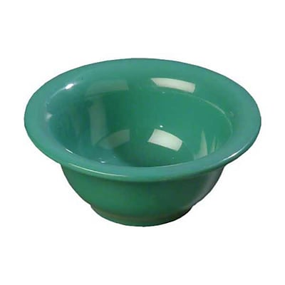 Carlisle 10 oz Rimmed Nappie Bowls - Durus Collection, Meadow Green