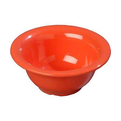 Carlisle 10 oz Rimmed Nappie Bowls - Durus Collection, Sunset Orange