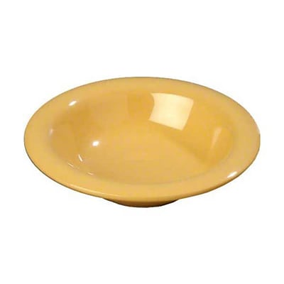 Carlisle 6 oz Rimmed Bowls - Durus Collection, Honey Yellow