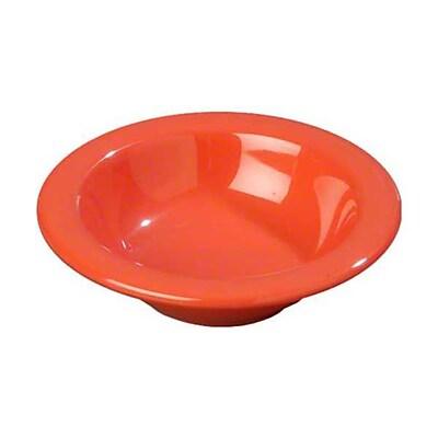 Carlisle 4-1/2 oz Rimmed Fruit Bowls - Durus Collection, Sunset Orange