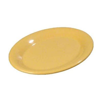 Carlisle 7'' x 10'' Oval Platter - Durus Collection, Honey Yellow