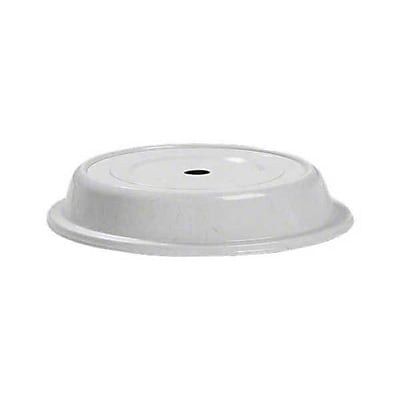 Carlisle 10-1/2'' to 10-3/4'' Polyglass Plate Cover, Gray