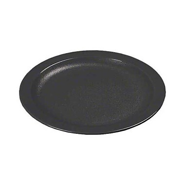 Carlisle PCD209-03, 9'' Narrow Rim Plate - Polycarbonate Collection, Black