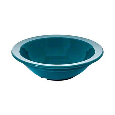 Carlisle 5 oz Rimmed Fruit Bowl - Polycarbonate Collection, Teal