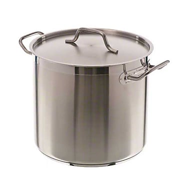 Update International SPS-16 16 qt. Stainless Steel Induction-Ready Stock Pot