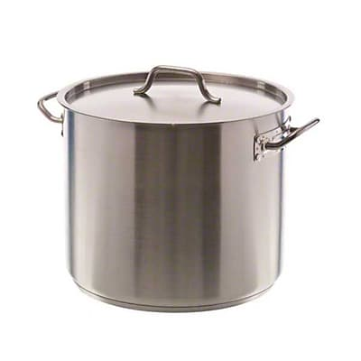 Update International SPS-32 32 qt. Stainless Steel Induction-Ready Stock Pot