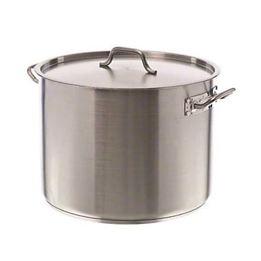 Update International SPS-40 40 qt. Stainless Steel Induction-Ready Stock Pot