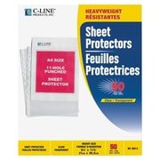 C-LineMD – Protège-feuilles en polypropylène de format A4, transparents, 50 par boîte