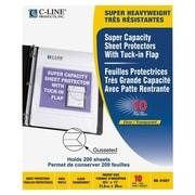 C-LineMD – Cahiers de protection grande capacité avec rabat, transparents, 10 par paquet