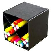 DeflectoMD – Organisateur en cubes empilables avec séparateur en X, noir