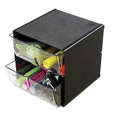 DeflectoMD – Organisateur en cubes empilables à 4 tiroirs, noir
