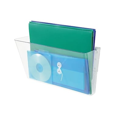 Deflect-oMD – Pochette murale superposable de format lettre, transparent