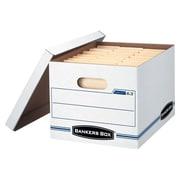 Bankers Box® - Boîtes de rangement EasyLift, blanc/bleu, paq./12 (6301)
