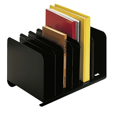 MMF™ 6-Section Adjustable Steel Book Rack, Black