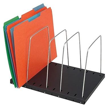 MMF™ SteelMaster® Adjustable 4-Pocket Wire Organizer, Black
