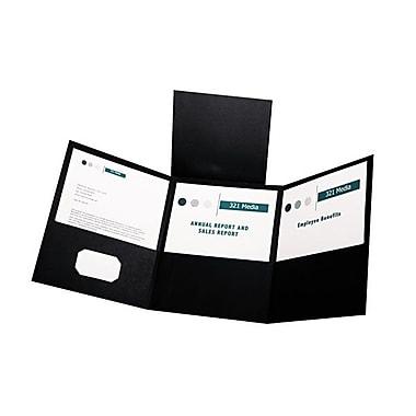 OxfordMD – Chemises de format lettre à trois pochettes pliables, noir, 20/paquet