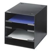 SafcoMD – Range-tout de bureau 3112, 4 compartiments, noir